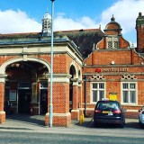 Hertford East train station with direct routes into London Liverpool Street. estateagent hertford liverpoolstreet